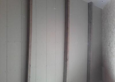 stucplaten tussen gordingen